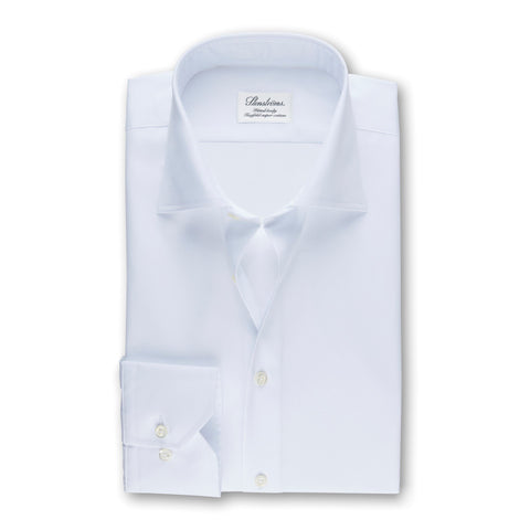 Stenstroms Solid White SLIMLINE Dress Shirt