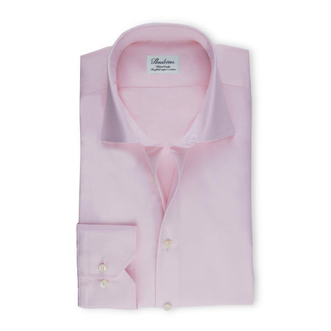 Stenstroms Solid Pink Fitted Body Dress Shirt