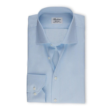 Stenstroms Blue Striped Fitted Body Dress Shirt