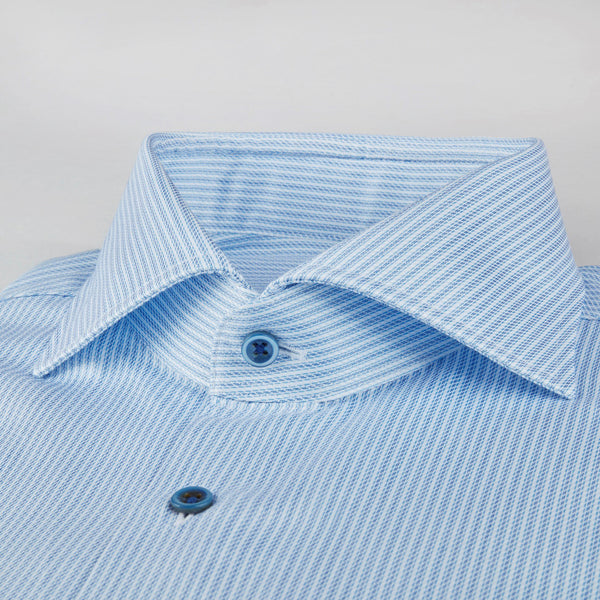 Stenstroms Blue Striped Fitted Body Shirt