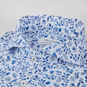 Stenstroms Floral Pique Fitted Body Shirt