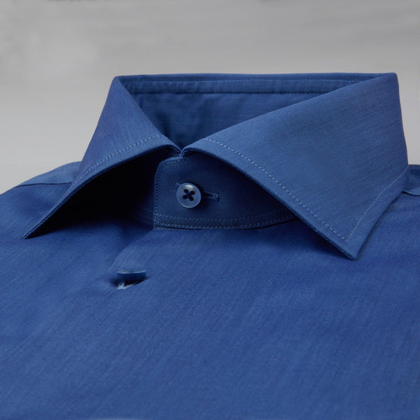 Stenstroms Marlin Blue Fitted Body Shirt Dress Shirt