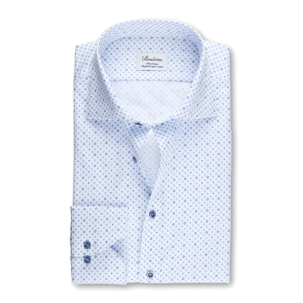 Stenstroms Blue Mini Medallion Fitted Body Shirt