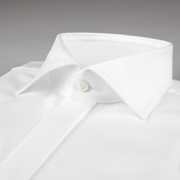 Stenstroms White Oxford French Front Tuxedo Dress Shirt