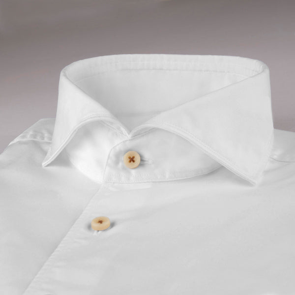 Stenstroms White Casual Fitted Body Sport Shirt