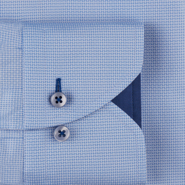 Stenstroms Blue Textured CLASSIC FIT Shirt With Details