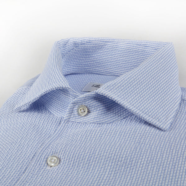 Stenstroms Light Blue Jacquard SLIMLINE Shirt