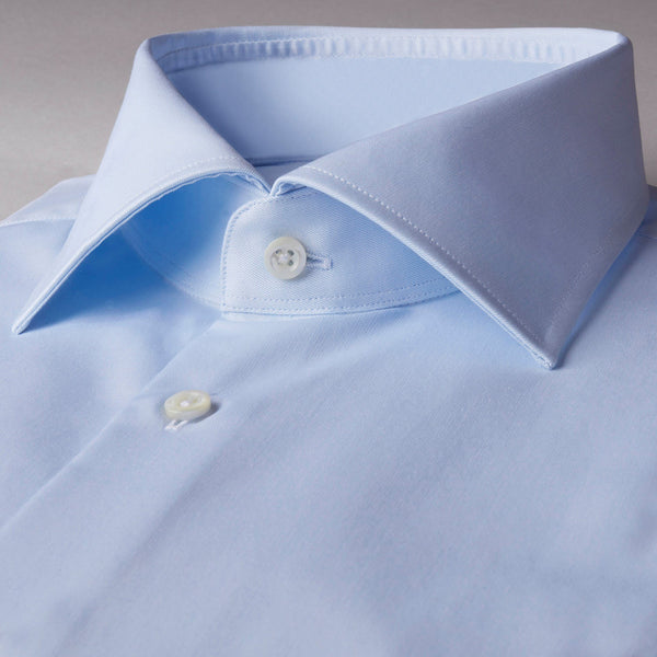 Stenstroms Solid Blue SLIMLINE Dress Shirt