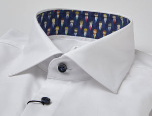 Stenstroms White STRETCH Fitted Body Dress Shirt