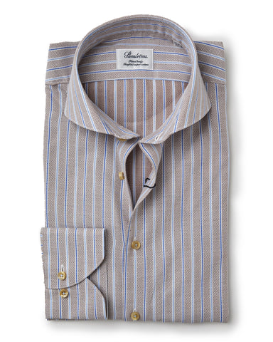 Stenstroms Tan Fitted Body Sport Shirt