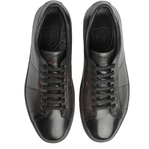 Duru Black Leather Sneakers