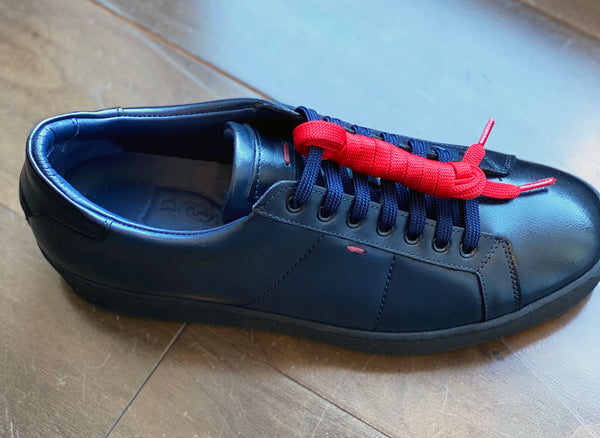Duru Navy Leather Sneakers