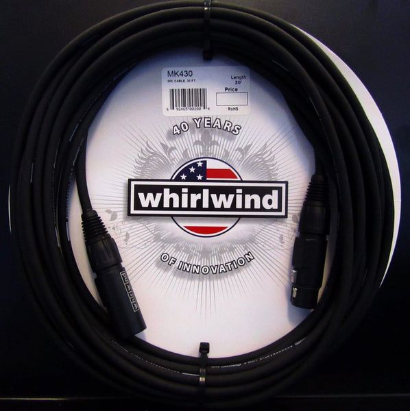 Whirlwind MK430 Microphone cable Handcrafted USA