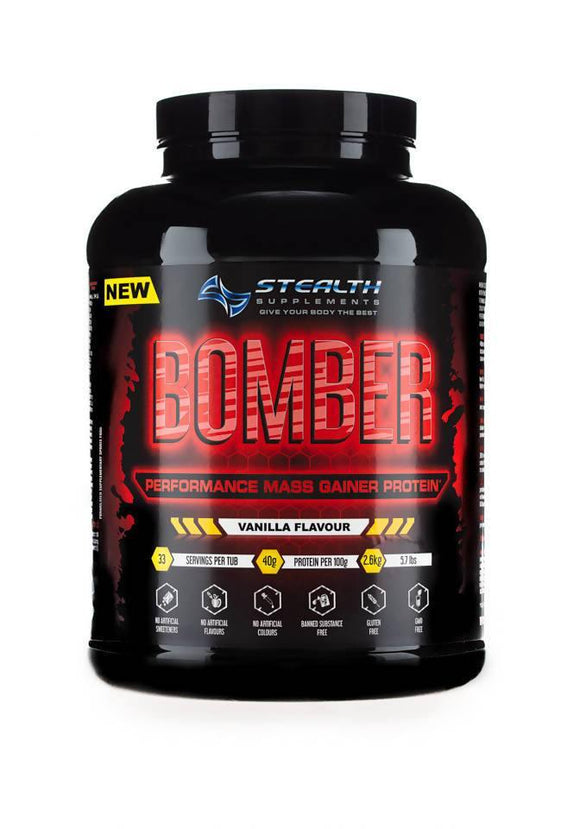 BOMBER - PERFORMANCE MASS GAINER PROTEIN - 2.6KG - madeinNZ.co.nz