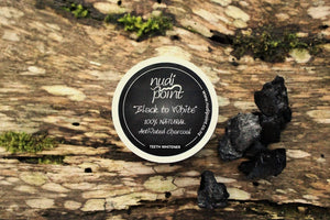 """Black to White"" - Natural Teeth Whitener by Nudi Point"