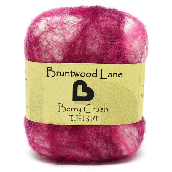 Berry Crush Felted Soap by Bruntwood Lane