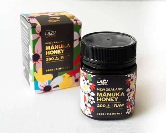 Lazu – Manuka Honey (Raw) – 200+ MGO (250g)