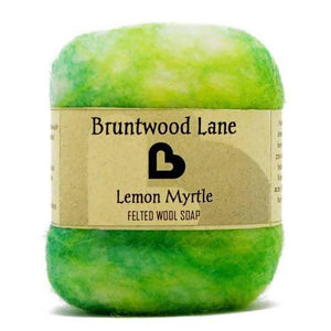Lemon Myrtle Felted Soap by Bruntwood Lane