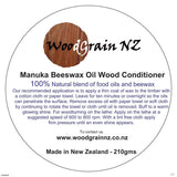 Manuka Beeswax and oil wood conditioner 210g