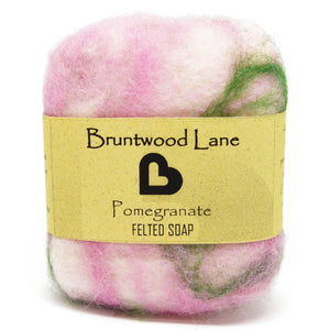 Pomegranate Felted Soap by Bruntwood Lane