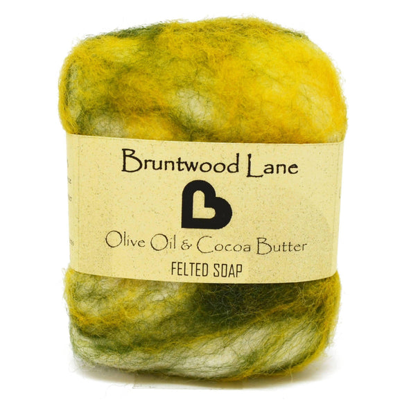 Olive Oil & Cocoa Butter Felted Soap by Bruntwood Lane