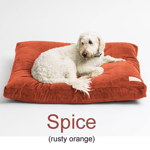 Large Wool Filled dog bed - Spice - 110cm x 89cm