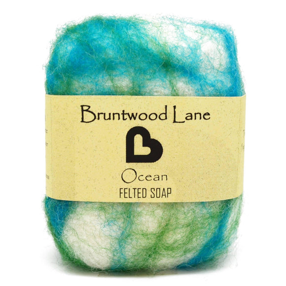 Ocean Felted Soap by Bruntwood Lane