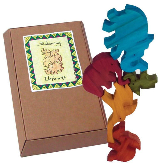 Balancing Elephants - Coloured Gift Boxed - madeinNZ.co.nz