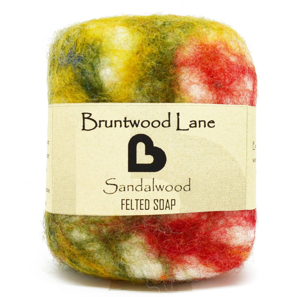 Sandalwood Felted Soap by Bruntwood Lane