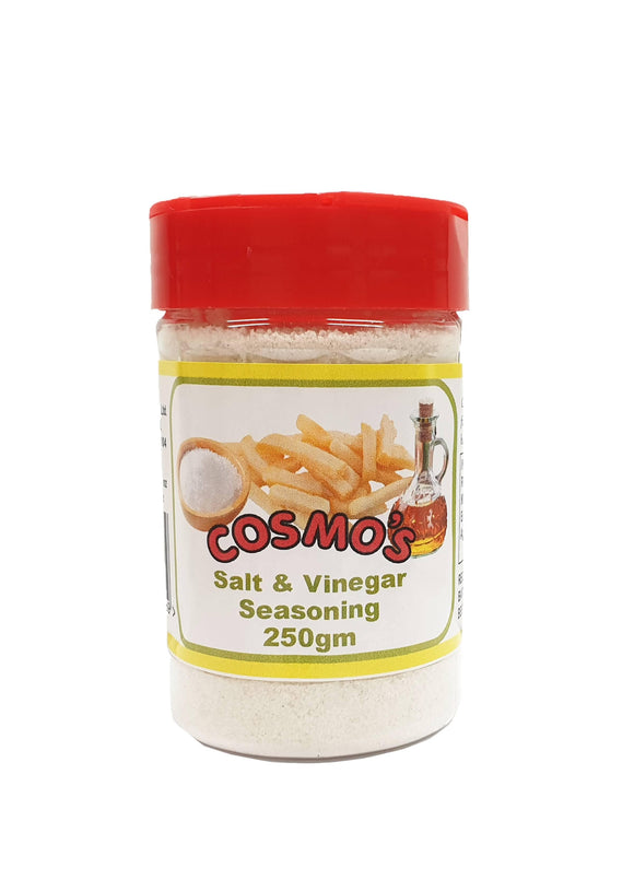 Cosmo's Salt & Vinegar Seasoning Retail Shaker 250gm *short-dated* 50% Off