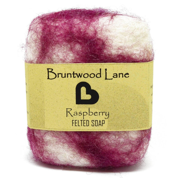 Raspberry Felted Soap by Bruntwood Lane