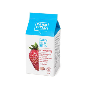 Farm Field Dairy Milk Bites - Strawberry - 56g Net