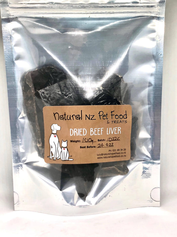 Dried Beef Liver pieces - madeinNZ.co.nz