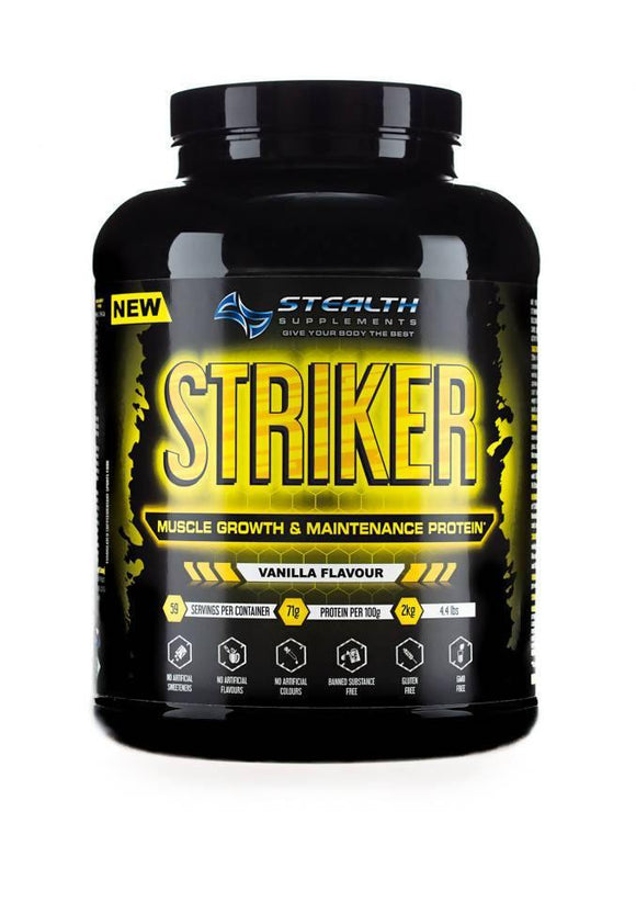 STRIKER - MUSCLE GROWTH & MAINTENANCE PROTEIN - 2KG - madeinNZ.co.nz