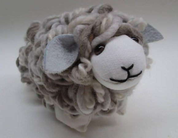 WOOLBERT Real wool toy sheep
