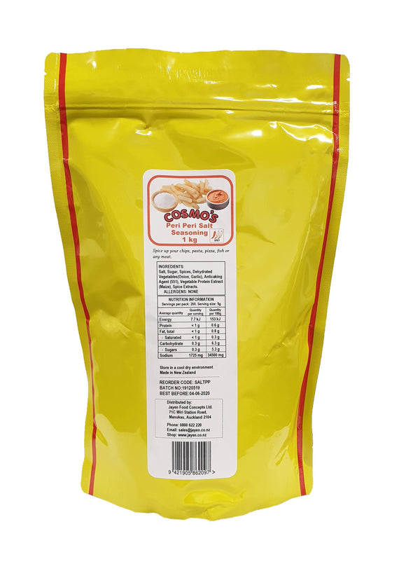 Cosmo's Peri Peri Salt Seasoning 1kg Bag