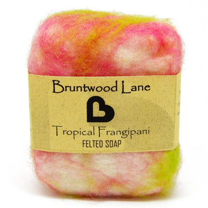 Frangipani Felted Soap by Bruntwood Lane