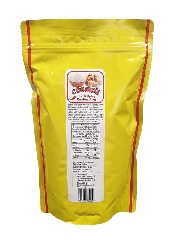 Cosmo's Hot & Spicy Chicken Coating 1kg