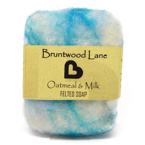 Oatmeal & Milk Felted Soap by Bruntwood Lane
