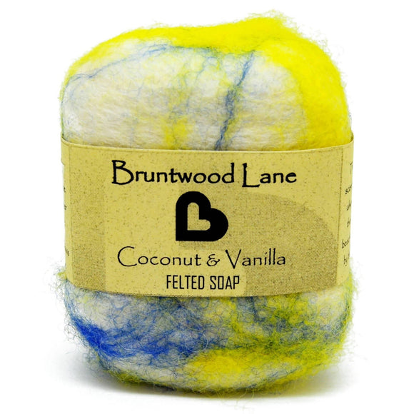 Coconut & Vanilla Felted Soap by Bruntwood Lane