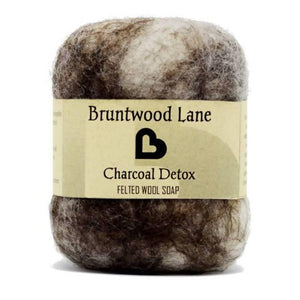 Charcoal Detox Felted Soap by Bruntwood Lane