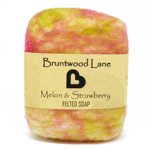 Melon & Strawberry Felted Soap by Bruntwood Lane