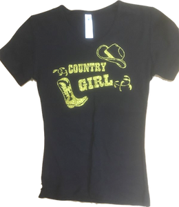"22 - Tee-Shirt ""Country Girl"""