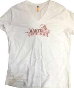 "10 - Tee-Shirt ""Wanted country dancers"""