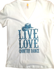 "Charger l'image dans la galerie, 20 - Tee-Shirt ""Live Love Country dance"""