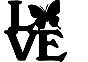 "Tee-Shirt ""Love papillon"""