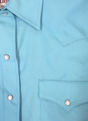Chemise western/country classique bleu turquoise