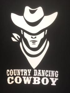 "32 - Tee-Shirt ""Country dancing cowboy"""