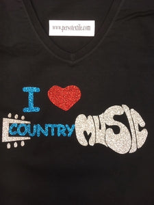 45 - Tee-Shirt ' I love country music""