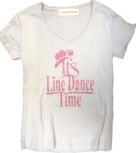 "4 - Tee-Shirt ""It's Line Dance time"""